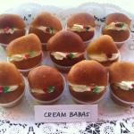 Cream Rum Babas
