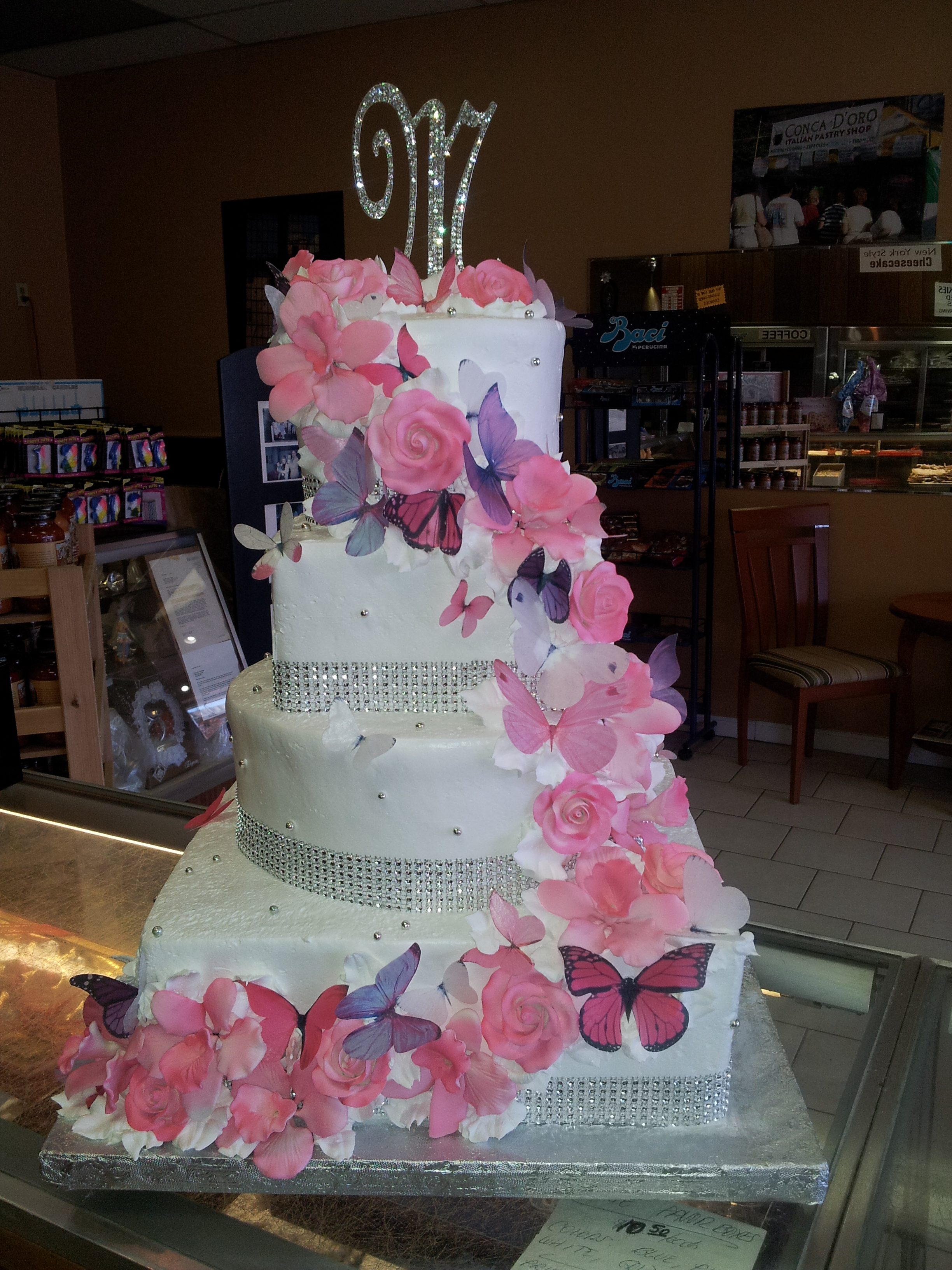 Sweet 15 and 16 Cakes Conca DOro Italian Pastry Shop