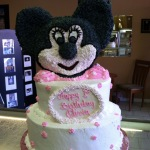 Minnie Mouse Tiered Cake