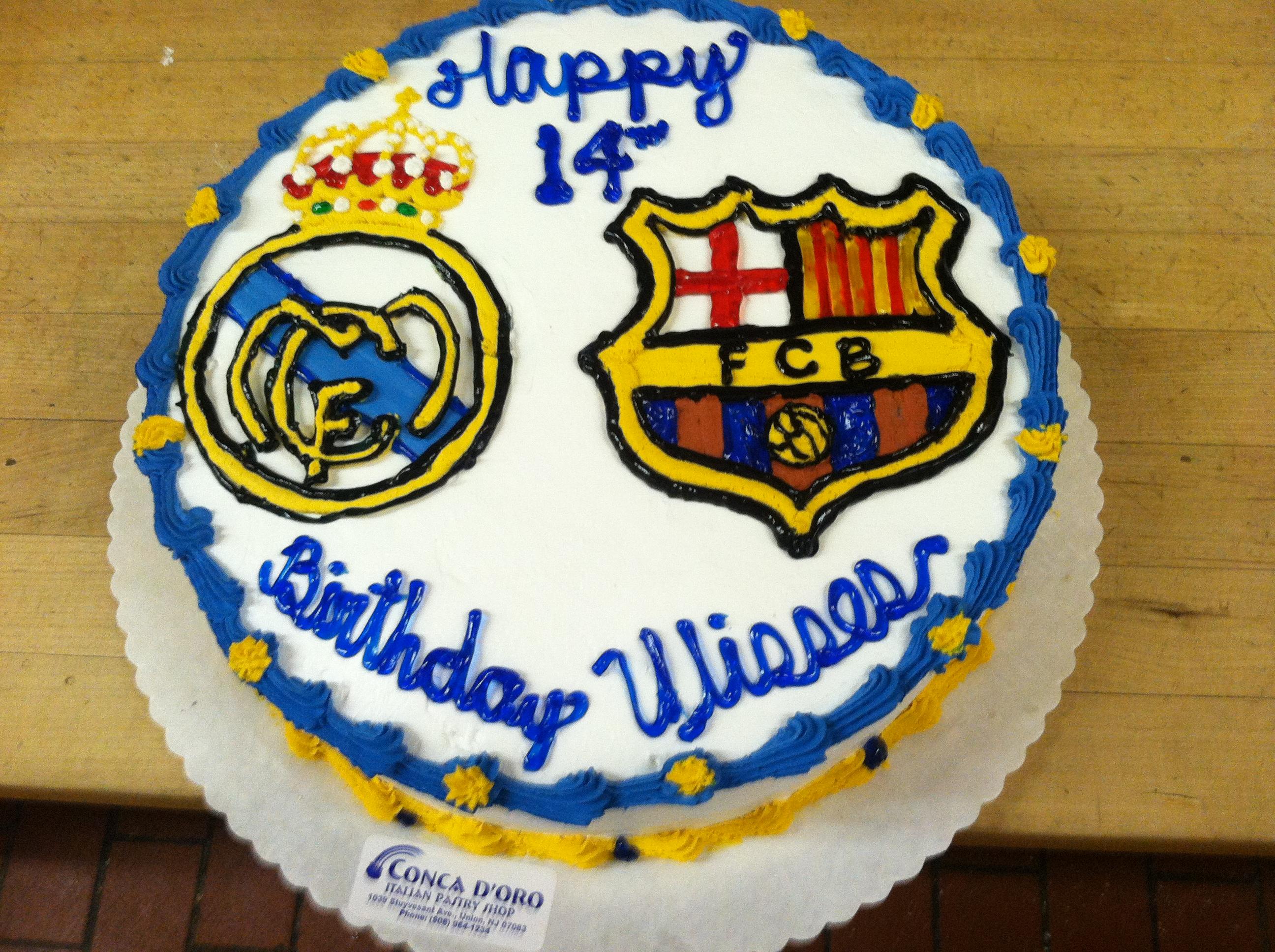 Barcelona vs Real Madrid Cake