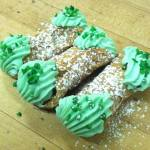 St. Patrick's Day Cannolis
