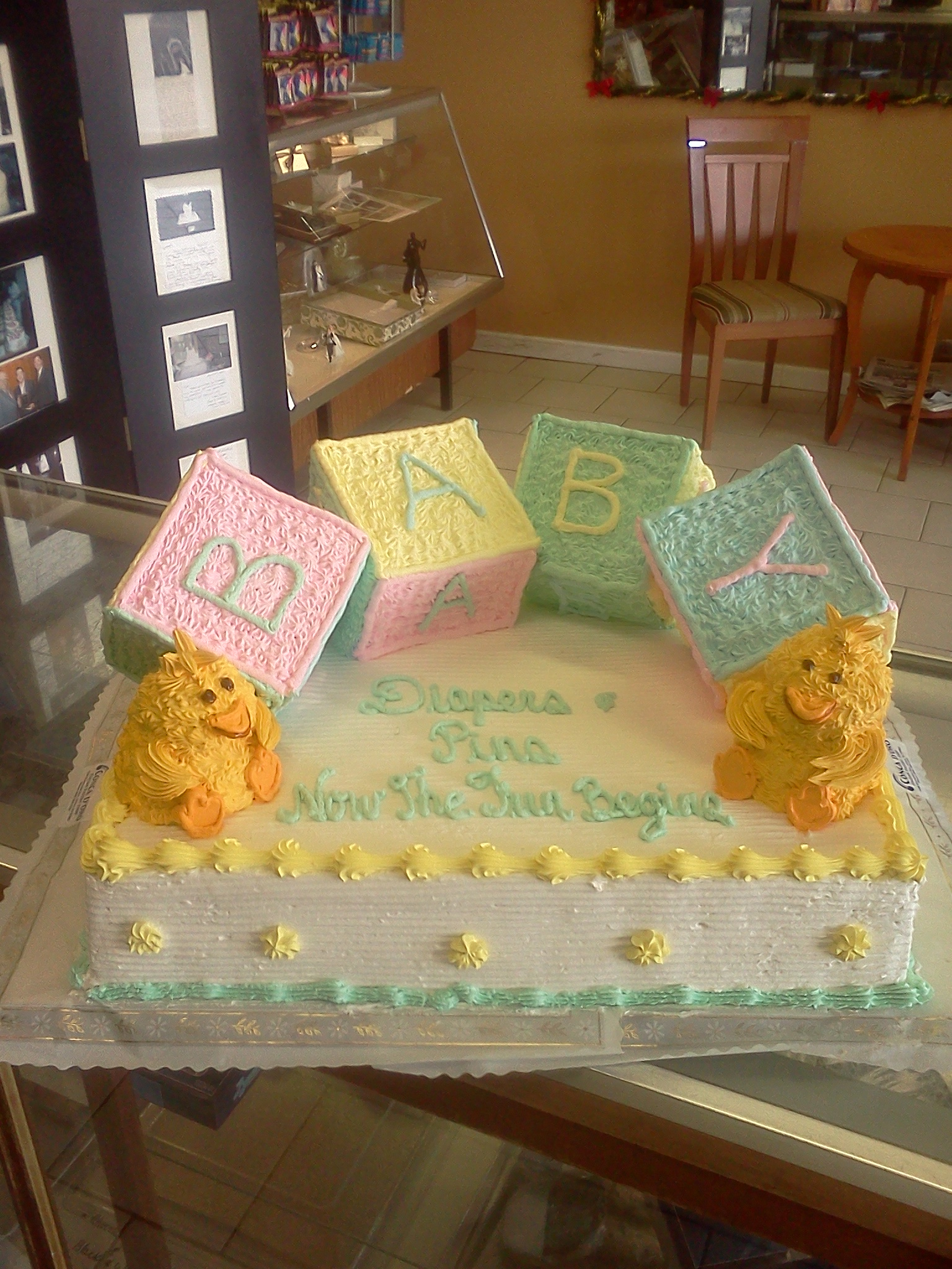 Baby Shower Cakes Conca D Oro Italian Pastry Shop